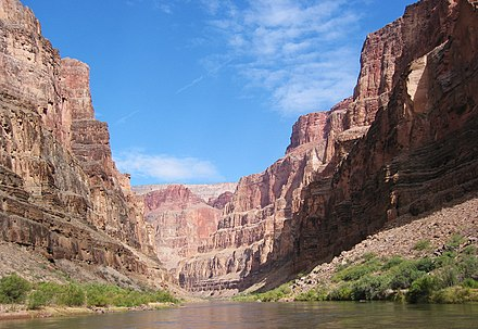 Marble Canyon, one of the many gorges that Powell's expedition traversed Canyon midday.jpg