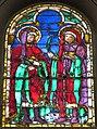Cappella del noviziato, vetrata coi santi cosma e damiano di alesso baldovinetti.JPG