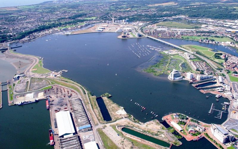 File:Cardiff Bay Aerial View.JPG