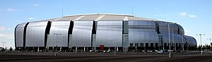 2007 Fiesta Bowl - The new University of Phoenix Stadium in Glendale, AZ is the host stadium of the Tostitos Fiesta Bowl.