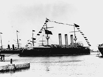 Spanish Republican Navy - Cruiser Emperador Carlos V was no longer in active service during the Republic. It was used as a pontoon for exercises
