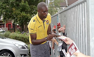 Carlton Cole - Cole signing autographs in 2010