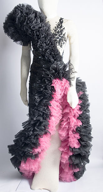 Carmen Miranda Museum - Dress worn by Miranda, created by costume designer Yvonne Wood for the movie Greenwich Village (1944).
