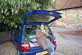 Caroline Barton in the boot.jpg