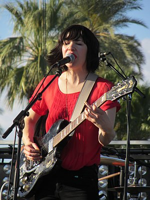 Carrie Brownstein - Brownstein performing with Wild Flag at Coachella in 2012