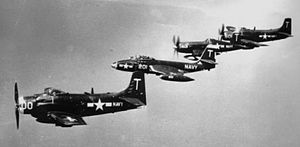 VA-12 (U.S. Navy) - Image: Carrier Air Group 1 planes USN 1951 52