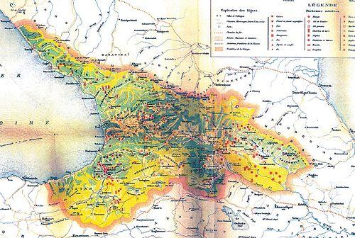 República Democrática De Georgia Wikiwand - Mapa de georgia