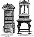Carved Oak Livery Cupboard and napkin press.jpg