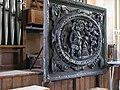 Carved wooden panel on the organ of Hullavington church - geograph.org.uk - 1547979.jpg