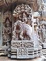 Carving on walls of Chennakeshava Temple, Somnath Pura.jpg