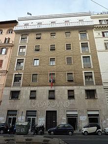 Il centro sociale CasaPound a Roma