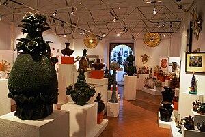 Handcrafts and folk art in Michoacán - View inside the Casa de las Artesanias in Morelia