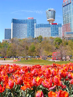 Niagara Falls, Ontario - Niagara Falls, Ontario. The Fallsview area is in the background.