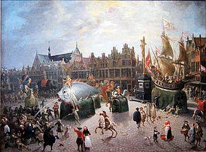 Erasmus de Bie - The Ommegang in Antwerp