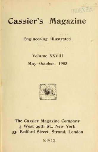 Cassier's Magazine - Image: Cassier's Magazine for May October 1905