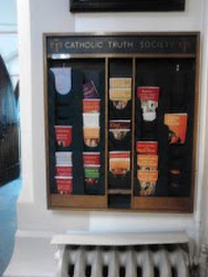 Catholic Truth Society - Catholic Truth Society literature stand at St Pancras Church, Ipswich