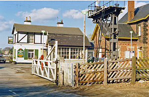 Cattal railway station - Station approach and level crossing