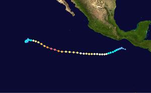 Hurricane Celia (2010) - Image: Celia 2010 track