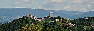 Celje Castle - Celje Castle from Pečovnik (the southwest)