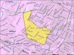 Census Bureau map of Maplewood, New Jersey