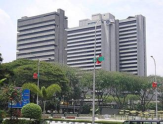 Bank Negara Malaysia - BNM headquarters in Kuala Lumpur.