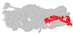 Location of Central East Anatolia Region