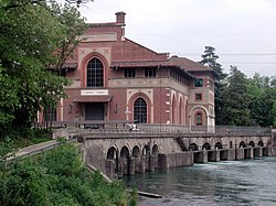 Power plant Esterle on the Adda river.