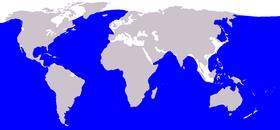 Blåhvalens udbredelsesområde