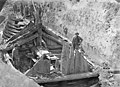 CfL02219 013 museum no. C10384 Utgravning av Gokstadskipet (Gokstad ship excavation 1880. Kulturhistorisk museum UiO Oslo, Norway. License CC BY-SA 4.0).jpg