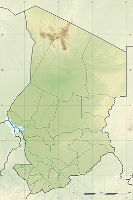 Map showing the location of Zakouma National Park
