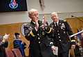 Chairman of the Joint Chiefs of Staff U.S. Army Gen. Martin E. Dempsey, foreground, congratulates graduates of the National Defense University at Fort McNair, Washington, D.C., June 13, 2013 130613-A-HU462-184.jpg