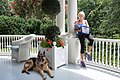 Champ and Jill Biden on the porch of Number One Observatory Circle in 2015.jpg