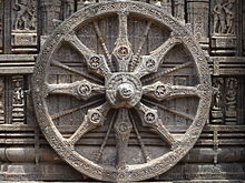 Chariot wheel of Konark temple.JPG