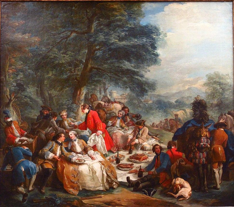 Charles-André, dit Carle Vanloo - Halte de chasse (1737)