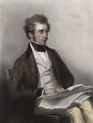 Charles Pelham Villiers - Engraving by John Cochran after a portrait by C. A. Du Val.