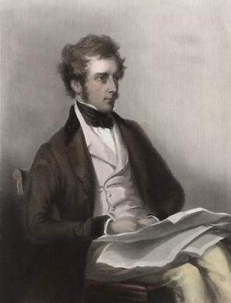 Charles Pelham Villiers - Engraving by John Cochran after a portrait by C. A. Du Val.