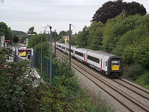 Belgian railway line 161 - A passenger train on line 161 in 2010