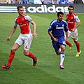 Chelsea 2 Arsenal 0 Top team performance, top of the league. (15452218002).jpg
