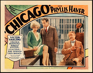 Chicago (1927 film) - Lobby card