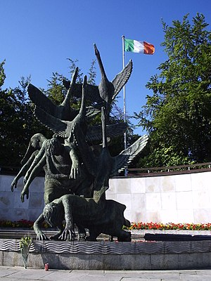 Ler (mythology) - The Children of Lir, sculpture in the Garden of Remembrance (Dublin)