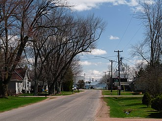 Chili, Wisconsin - Facing east on Chili Road toward downtown
