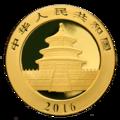 China Panda Goldmünze 2016 Rückseite.png