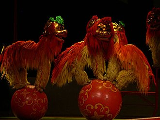 Lion dance - Northern Lion Dance in a variety show