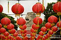 Chinese New Year decorations and the Merlion statue, Sentosa, Singapore - 20150222.jpg