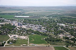 Aerial view of Choteau