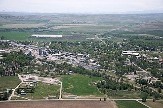 Choteau, Montana - Aerial view of Choteau