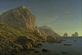 Christen Købke - A Rocky Coast, Capri. Soon after Sunrise - KMS445 - Statens Museum for Kunst.jpg