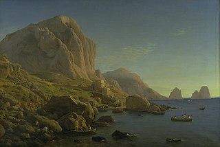 A Rocky Coast, Capri. Soon after Sunrise
