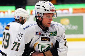 Christian Berglund - Image: Christian Berglund AIK Färjestad 2014 01 18