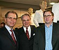 Christian von Holst mit Bernd Kobarg und Stephan Balkenhol, Foto Wolfgang List, Stuttgart.JPG